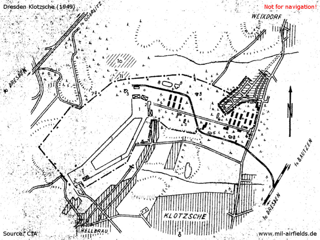 dresden klotzsche air base military airfield directory 1950s Inventions map dresden airfield 1949