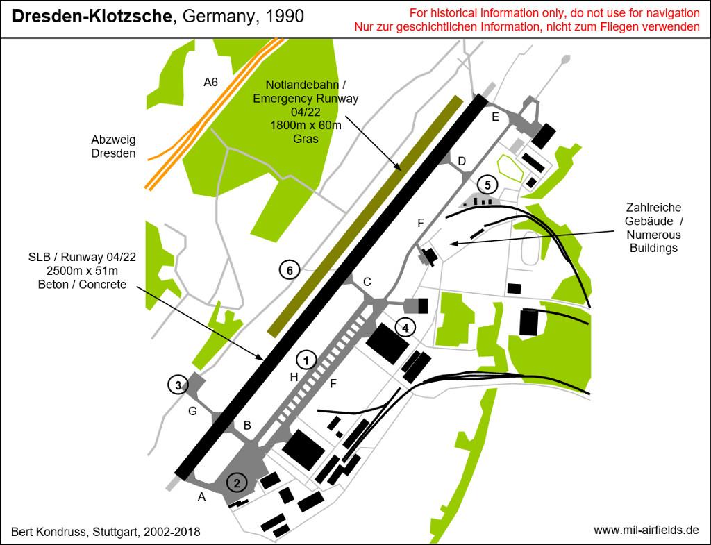 flughafen dresden karte Flughafen Dresden Klotzsche   1970er Jahre bis heu   Military