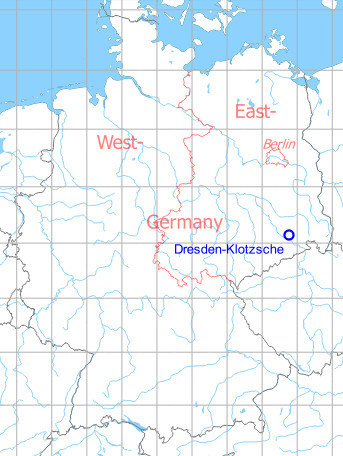 Map with location of Dresden Airport