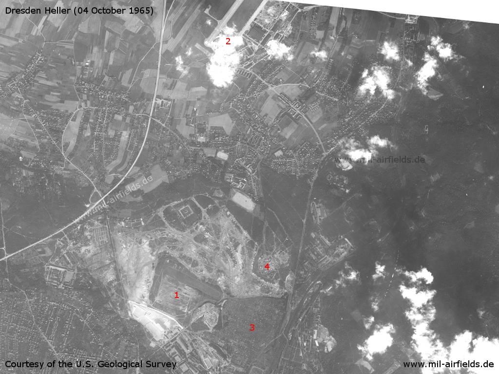 Sowjetischer Hubschrauber<wbr>lande<wbr>platz Dresden-Heller 1965