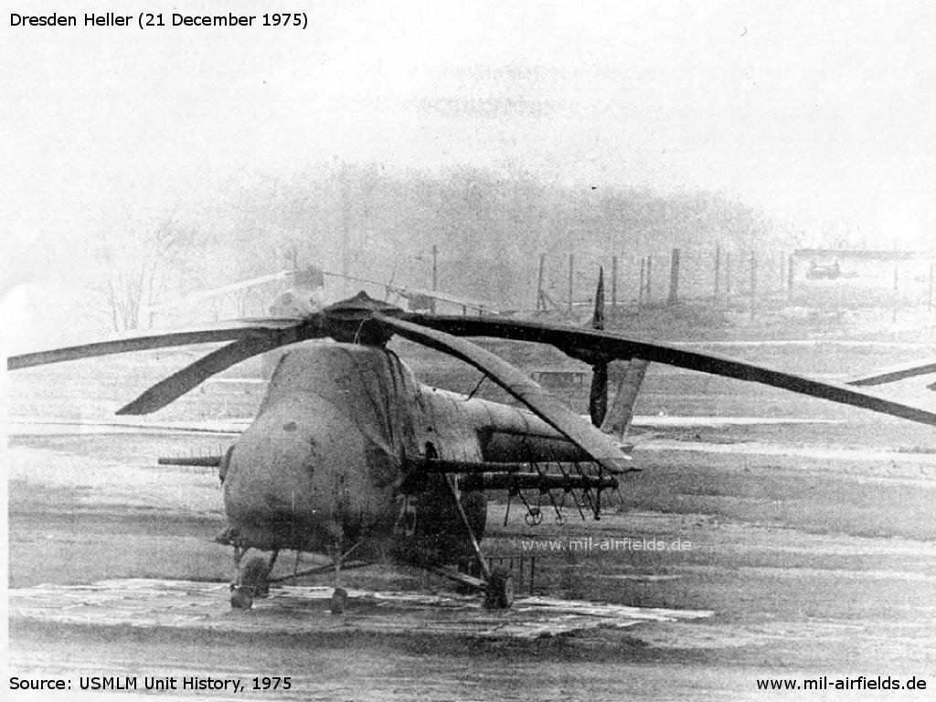 Soviet helicopter Mi-4 Hound with special aerials at Dresden Heller, Germany