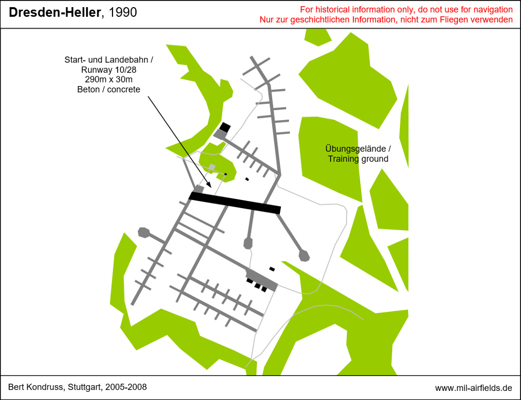 Map with Dresden Heller helipad