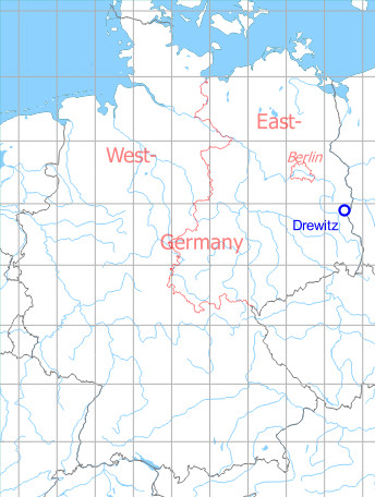 Map with location of Drewitz Air Base