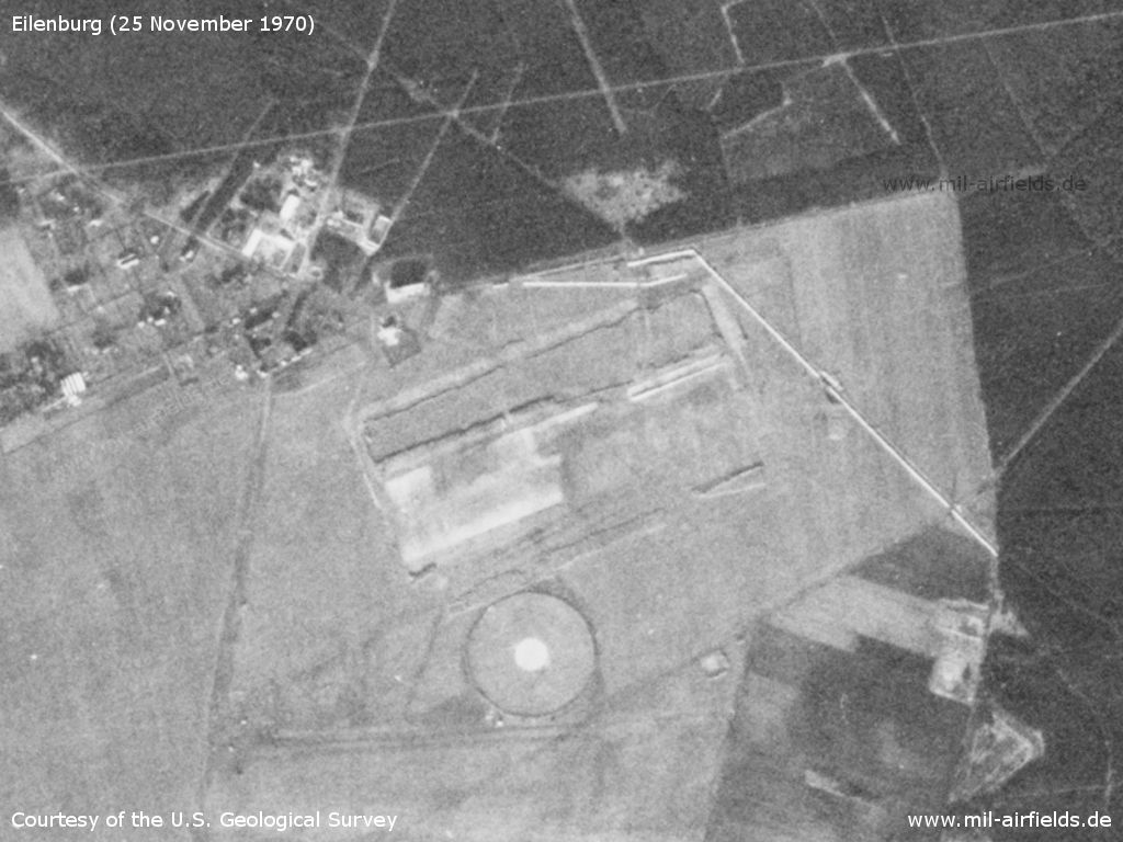 Eilenburg Airfield, Germany, on a US satellite image 1970