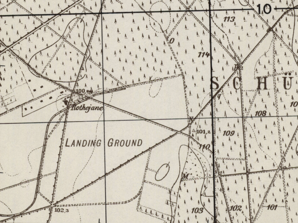 Eilenburg airfield on a map 1951