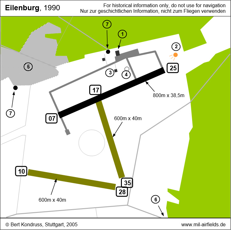 Map of Eilenburg airfield, Germany