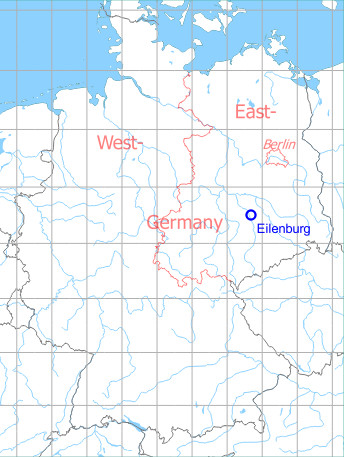 Map with location of Eilenburg Airfield