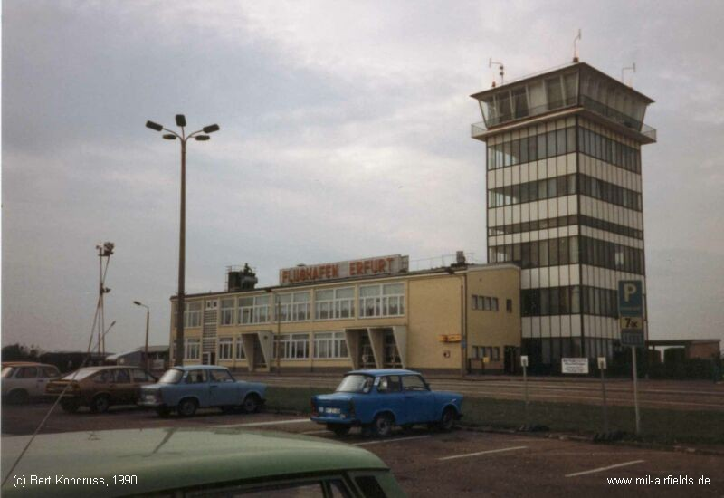 Erfurt Airport terminal building and tower