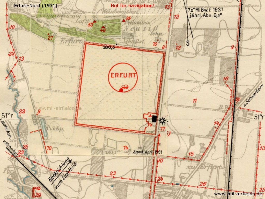 Plan of Erfurt North Airport 1931