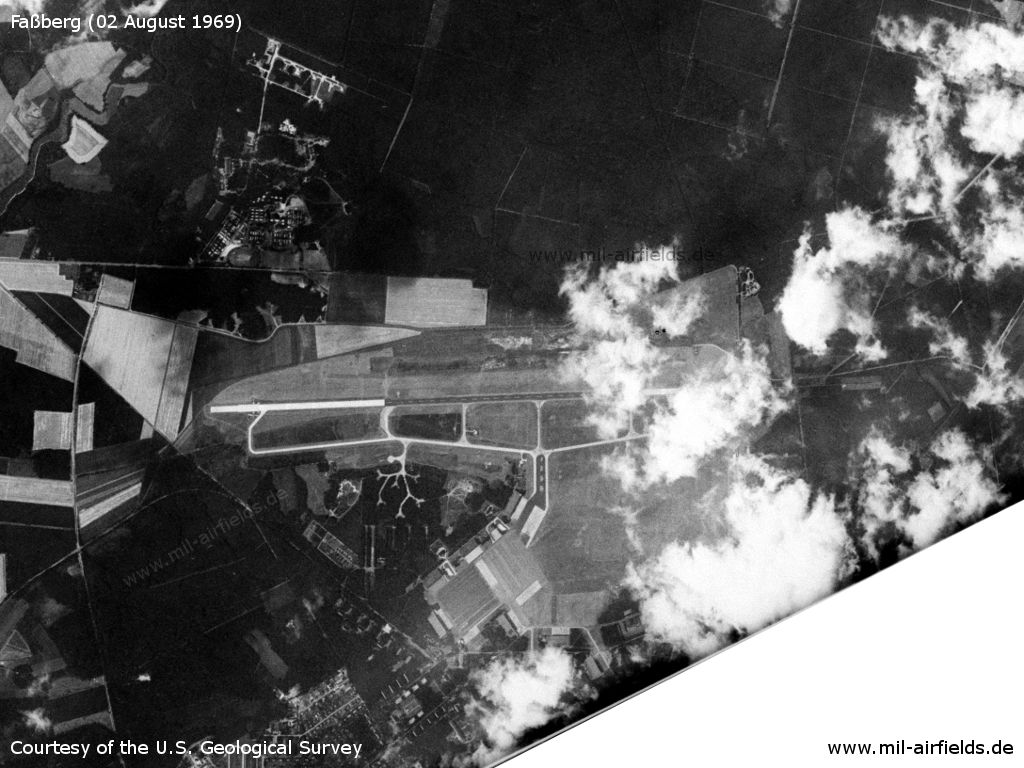 Fassberg Air Base, Germany, on a US satellite image 1969