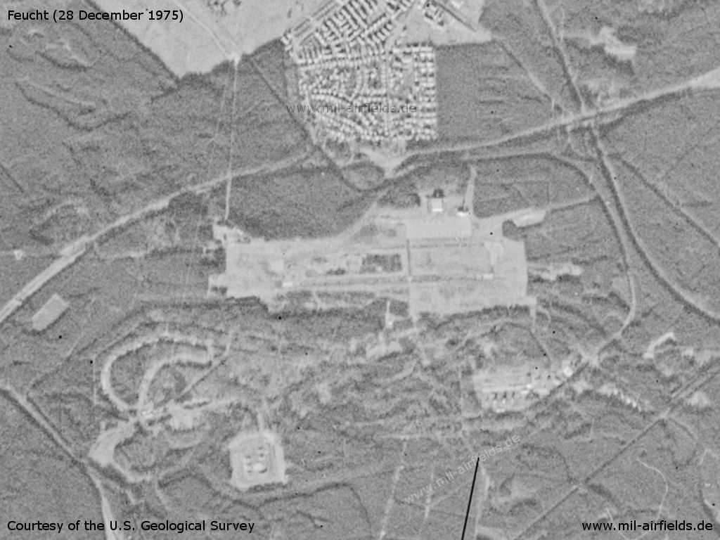 Feucht Army Airfield AAF, Germany, on a US satellite image 1975