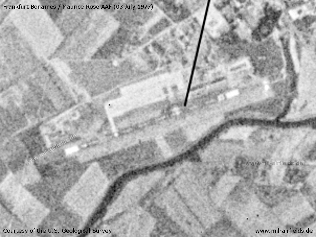 Frankfurt/M Maurice Rose Army Airfield, Germany, on a US satellite image 1977
