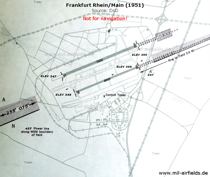 Airfield field 1951 with autobahn, railway siding