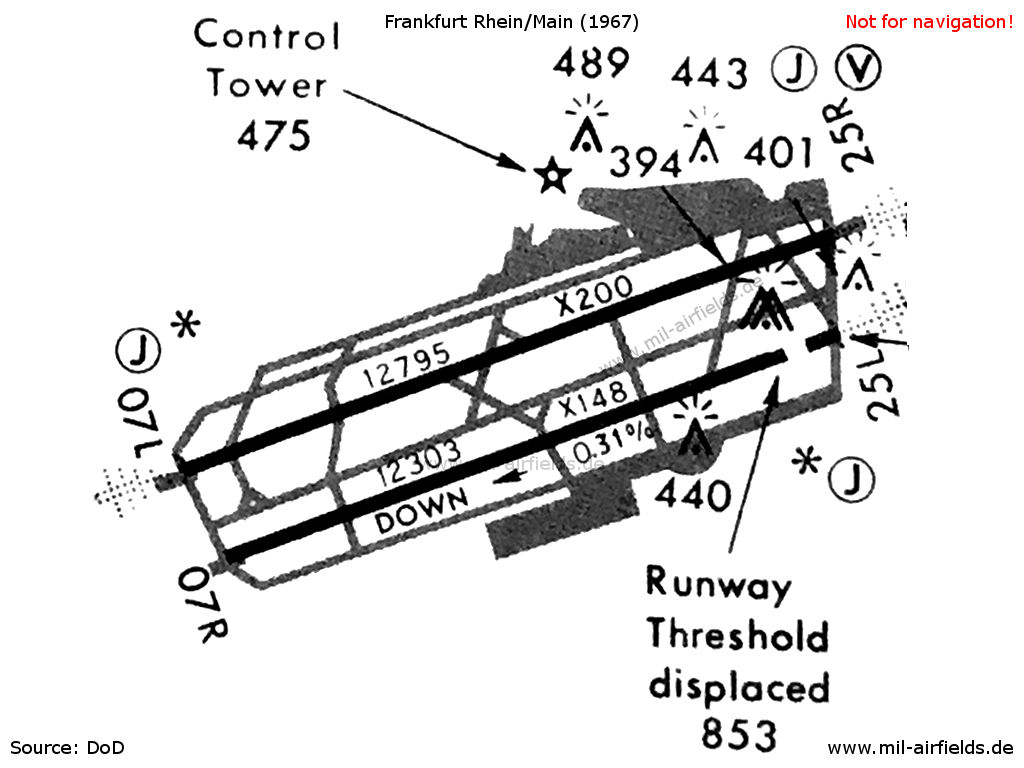 Map of Frankfurt Airport 1967
