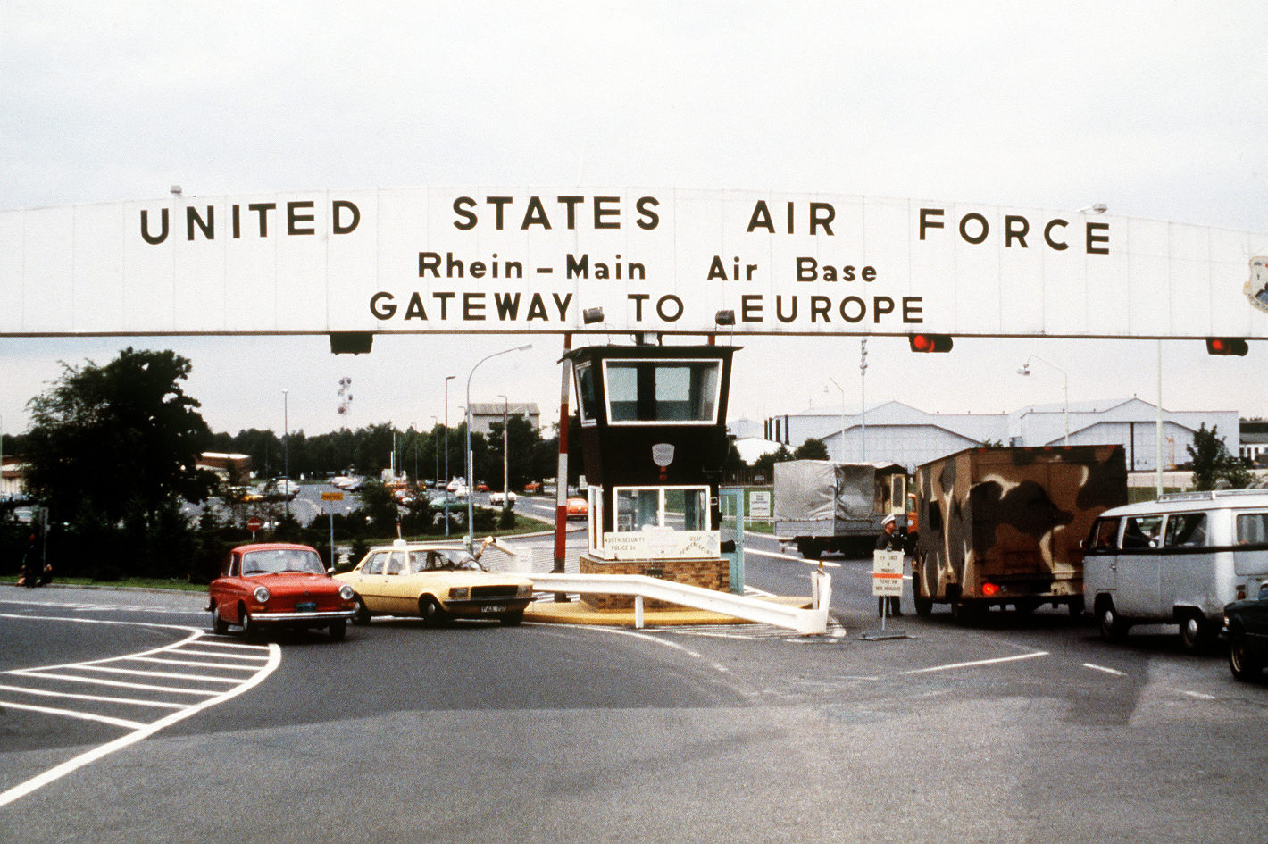 Main gate - United States Air Force Rhein Main Air Base Gateway to Europe