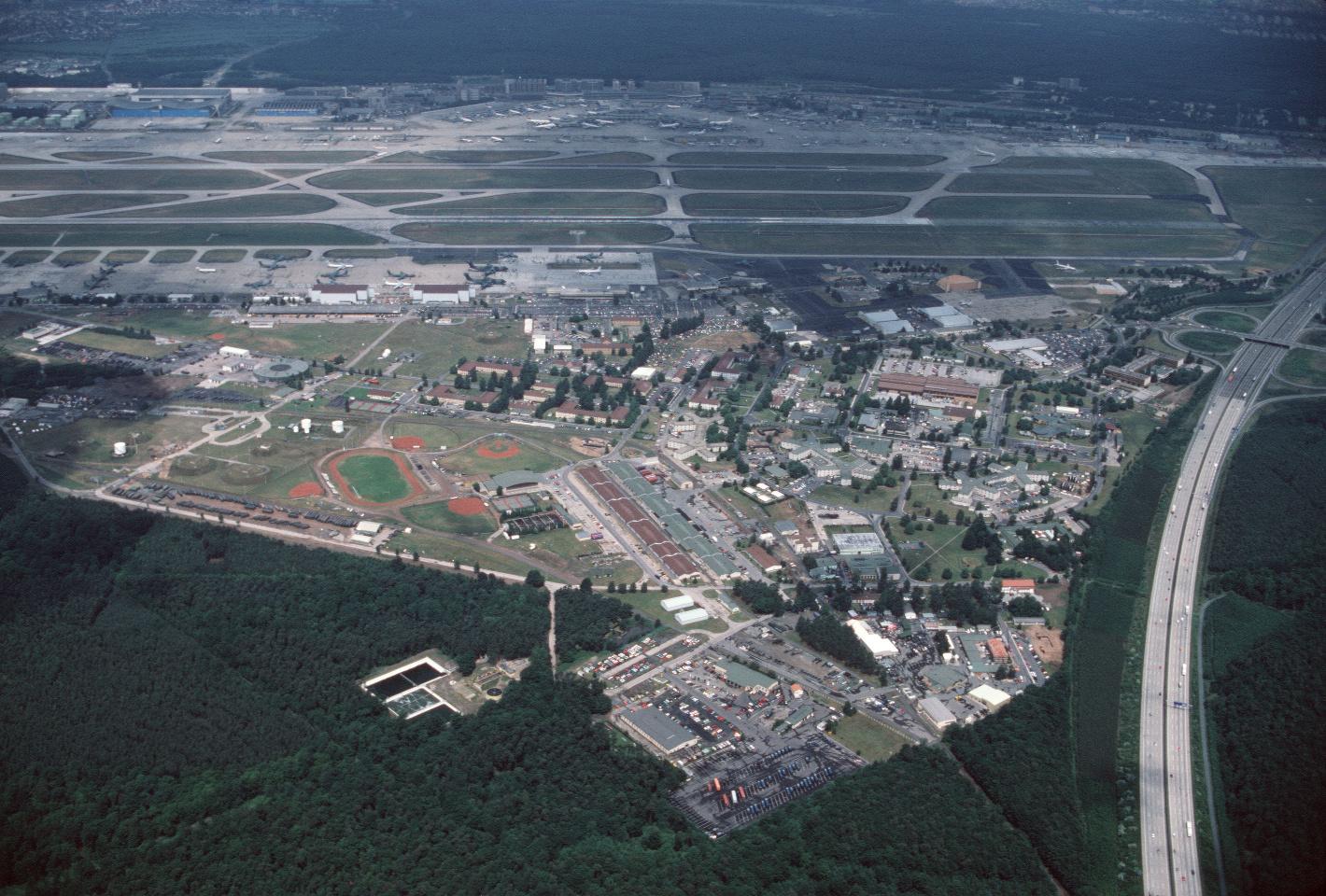 Aerial view Frankfurt Rhein/Main Air Base, Germany