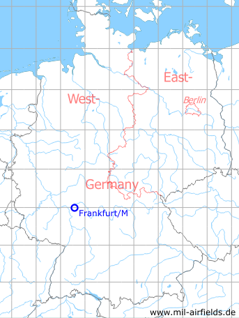 Map with location of Frankfurt Rhein/Main Air Base