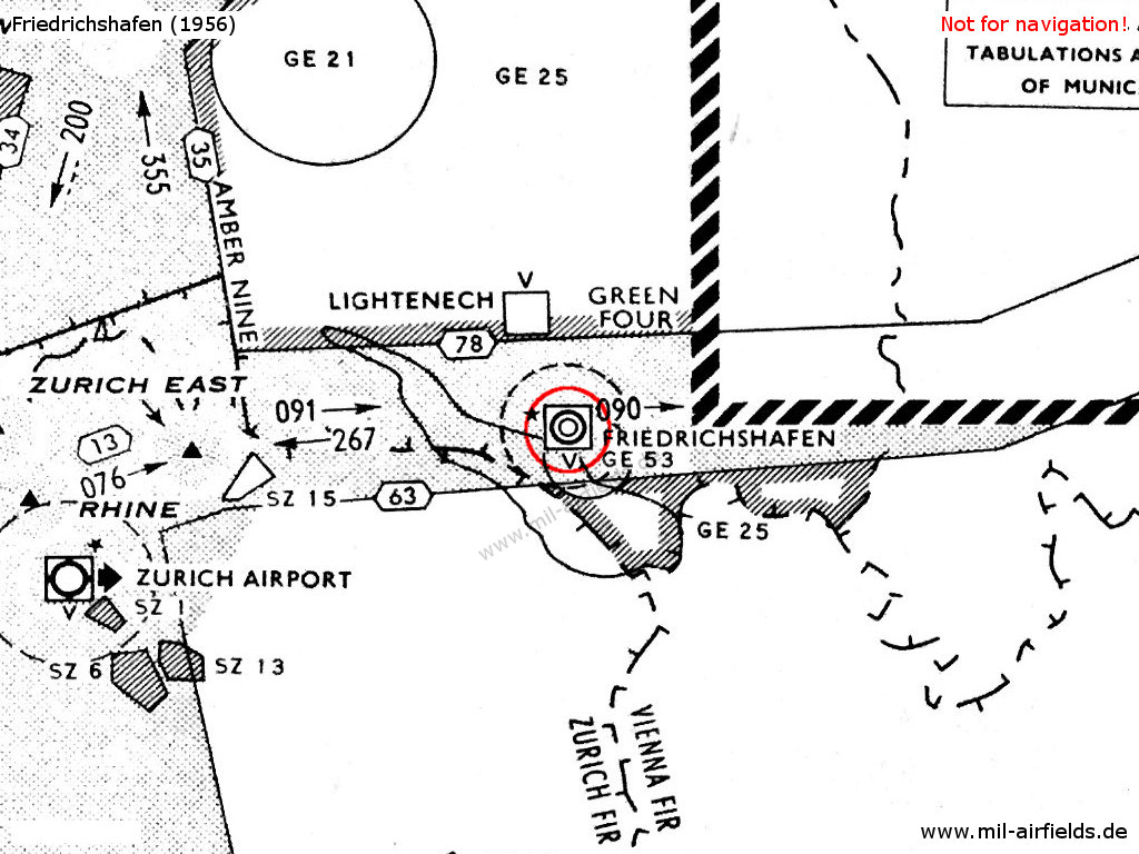 Base aérienne 136 on a map from 1956