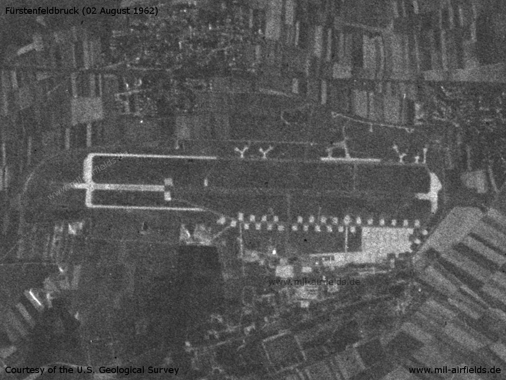 Fürstenfeldbruck Air Base, Germany, on a US satellite image from 02 August 1962