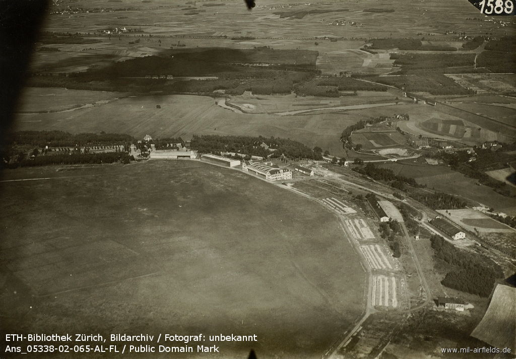 Aerial view of Fuerth Atzenhof airfield, Germany