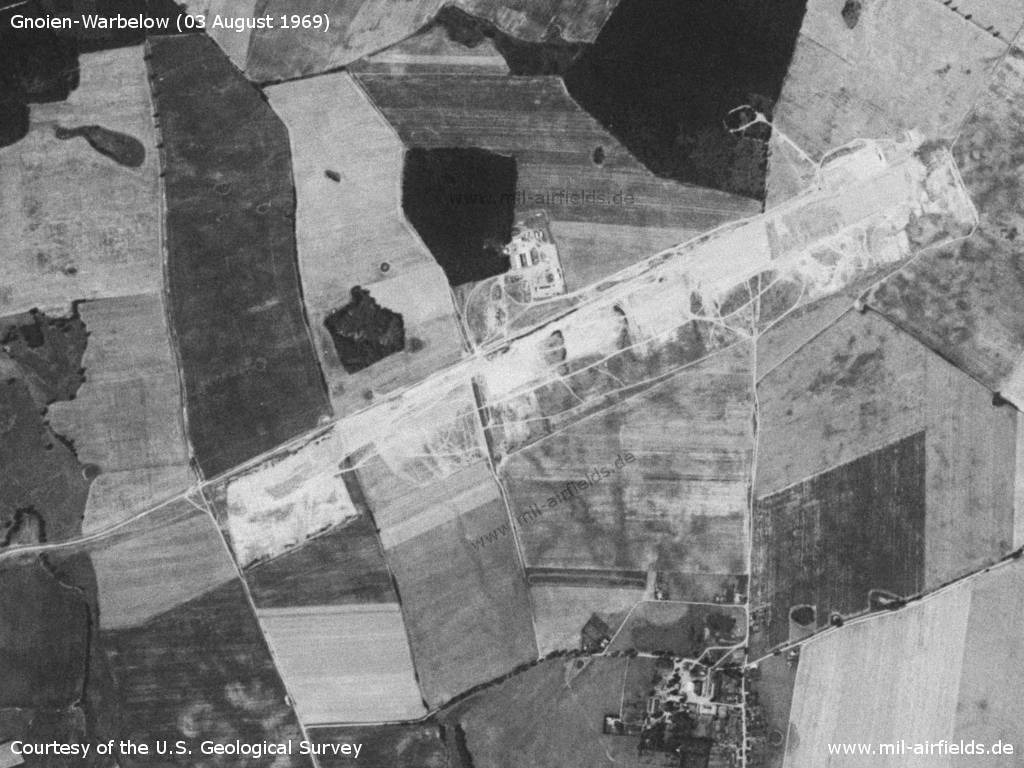 Gnoien Warbelow Airfield, Germany, under construction in 1969