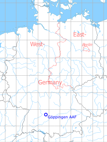 Goppingen Army Airfield Military Airfield Directory - Map-of-us-army-bases-in-germany