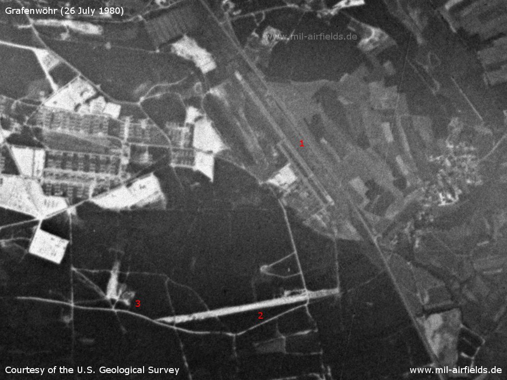 Grafenwöhr Airfield, Germany, on a US satellite image 1980
