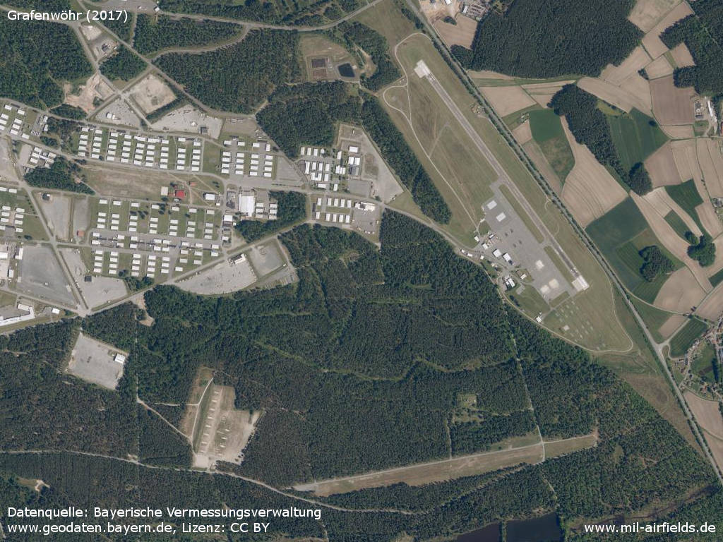Aerial image Grafenwöhr Airfield, Germany 2017