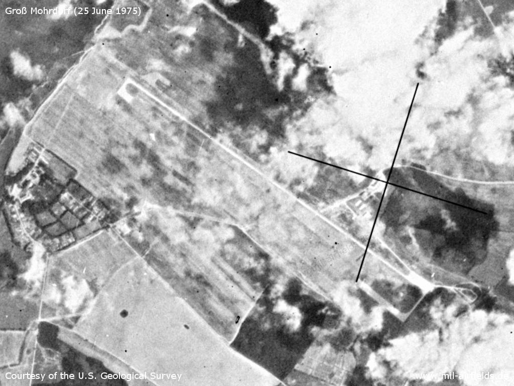 Gross Mohrdorf Airfield, Germany, on a US satellite image 1975