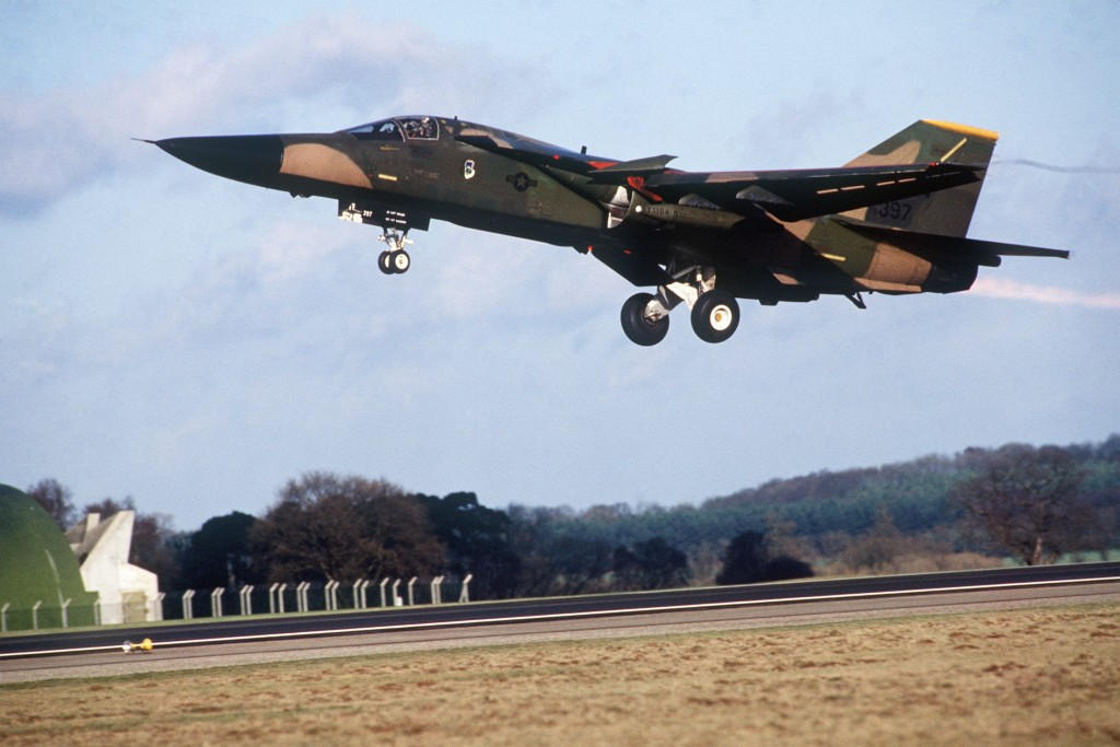 F-111F from the 493rd Tactical Fighter Squadron at Hahn