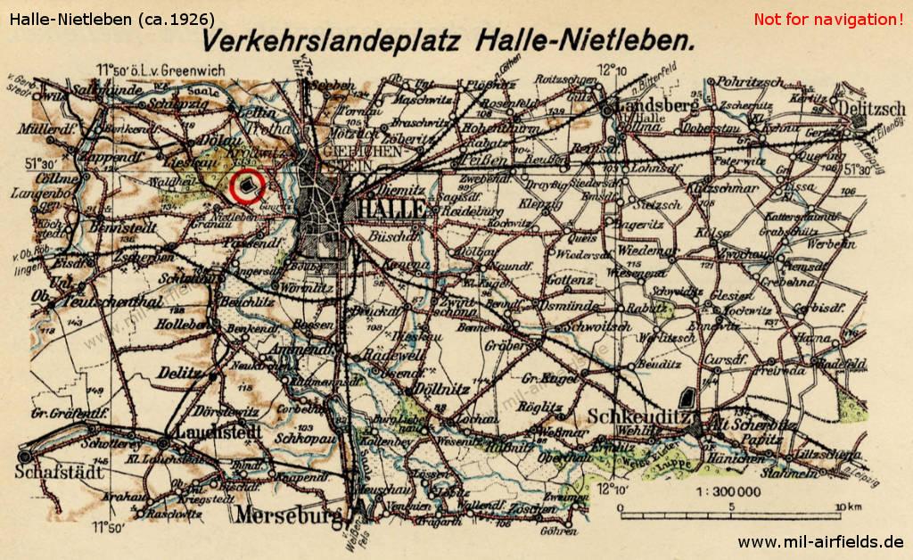 Halle Saale Karte.Flugplatz Halle Nietleben Military Airfield Directory