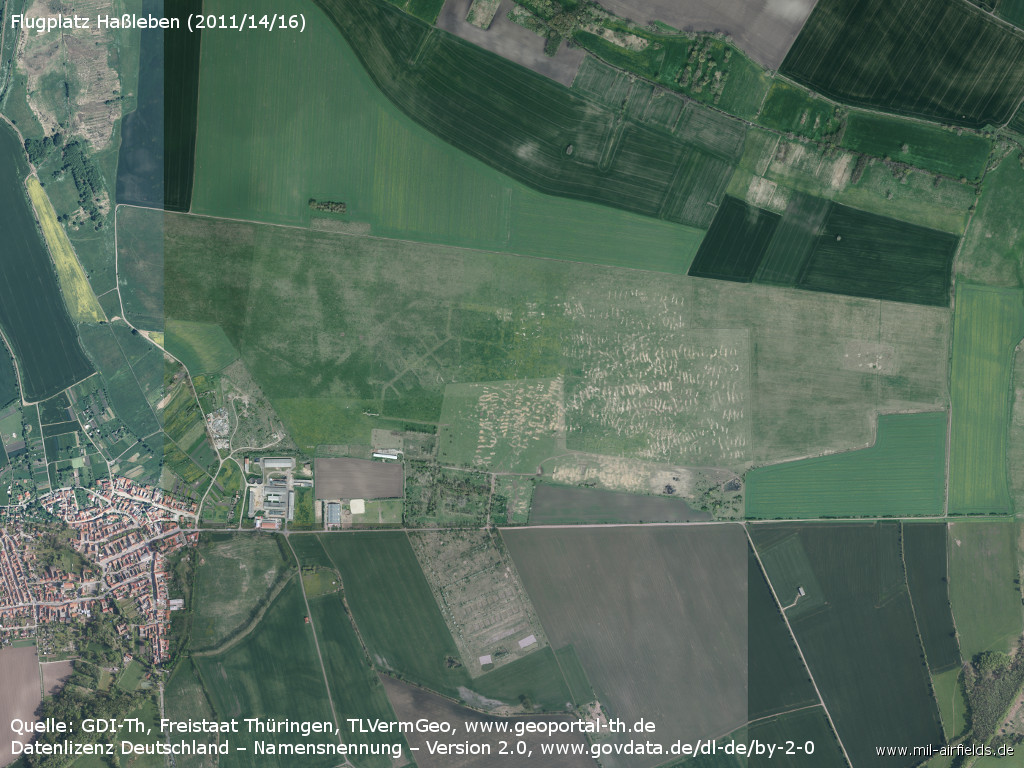 Aerial picture Hassleben airfield