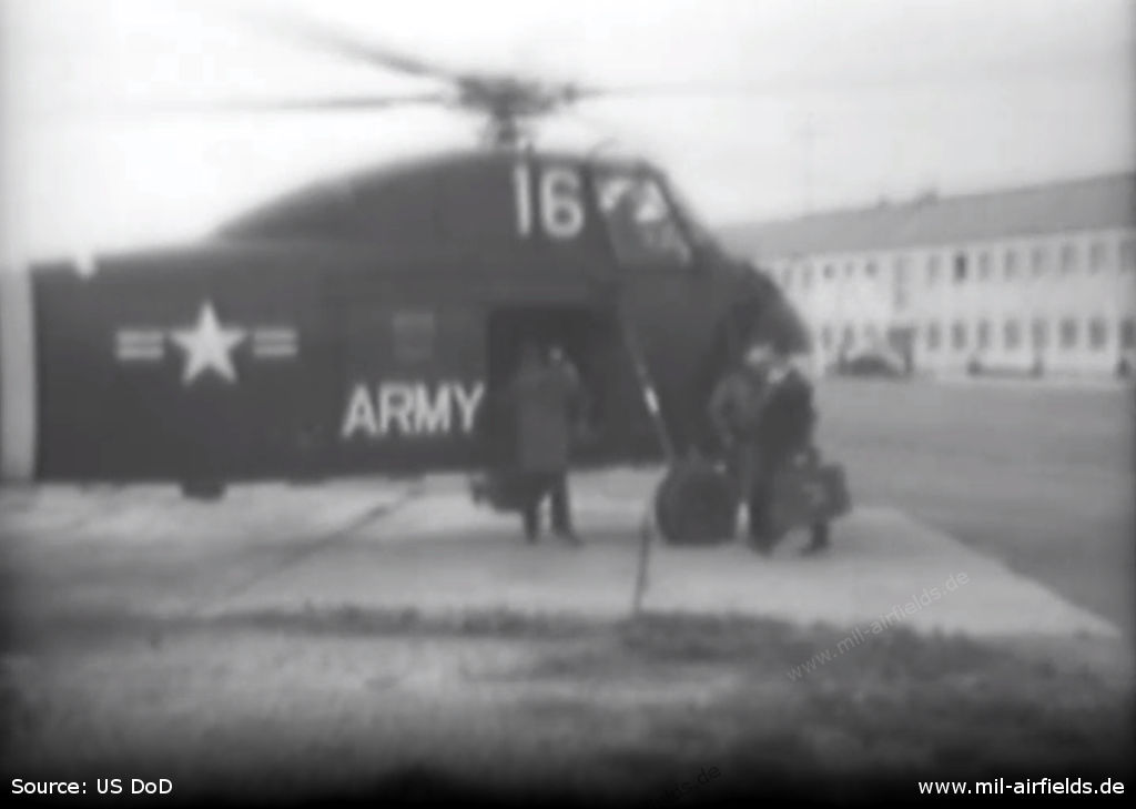 US Army helicopter Sikorsky S-58 / H-34 at Heidelberg Army Airfield