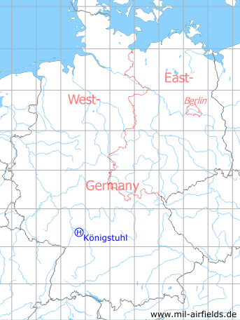 Map with location of Heidelberg Königstuhl Radio Relay Station Helicopter Landing Site, Germany