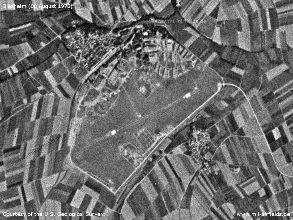Illesheim Army Air Field AAF, Germany, on a US satellite image 1976