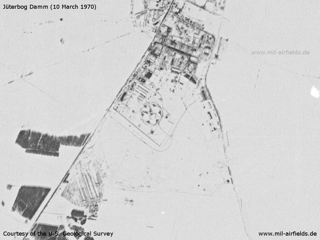 Jüterbog Damm Airfield, Germany, on a US satellite image 1970