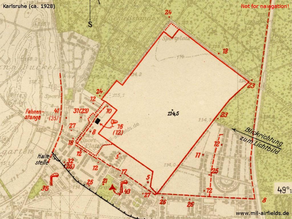 Karlsruhe Karte.Flugplatz Karlsruhe Military Airfield Directory