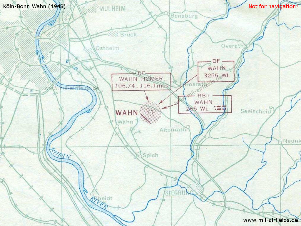 Situation map of Wahn airfield in 1948