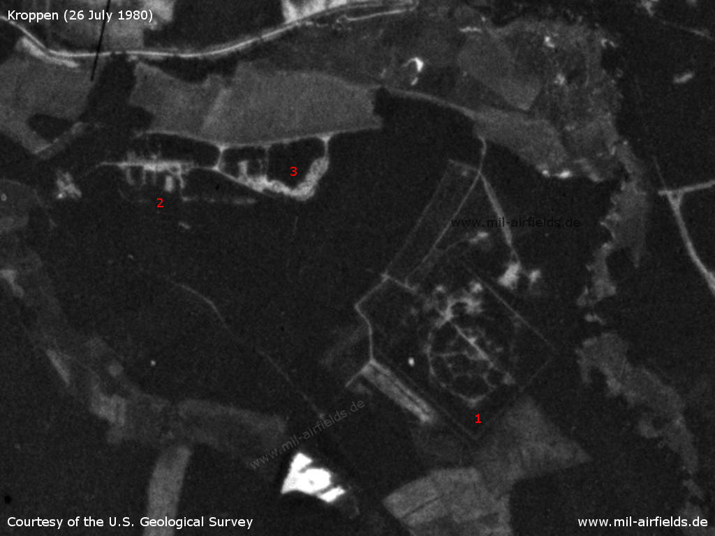 Kroppen, East Germany: Satellite image 1980