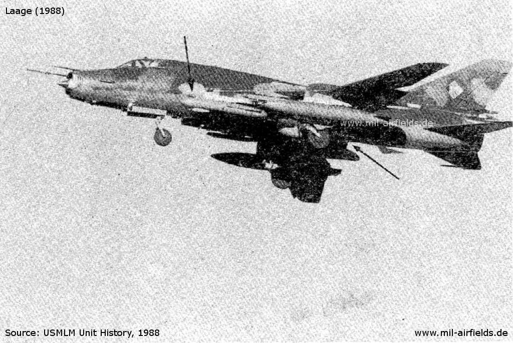 Su-22 FITTER K der NVA in Laage
