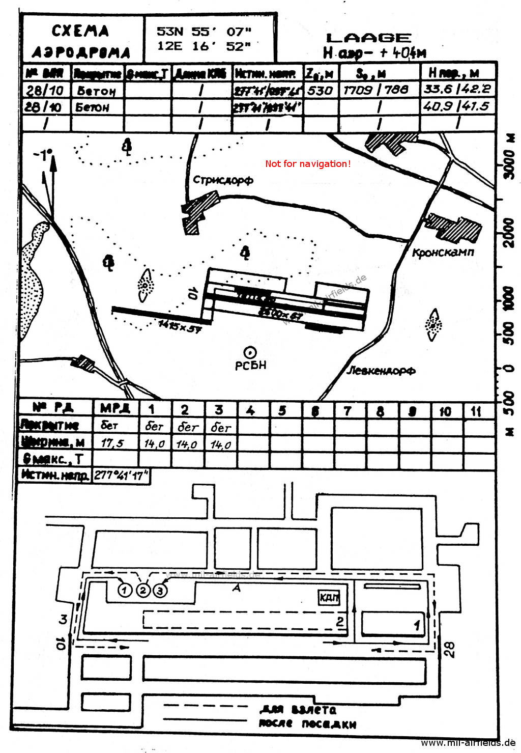 Map of Laage Airfield 1989
