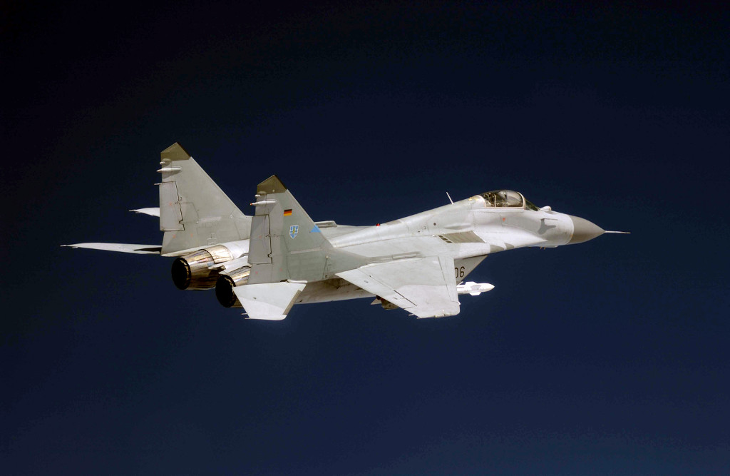 A MiG-29 Fulcrum of German Air Force Fighter Wing 73 Laage