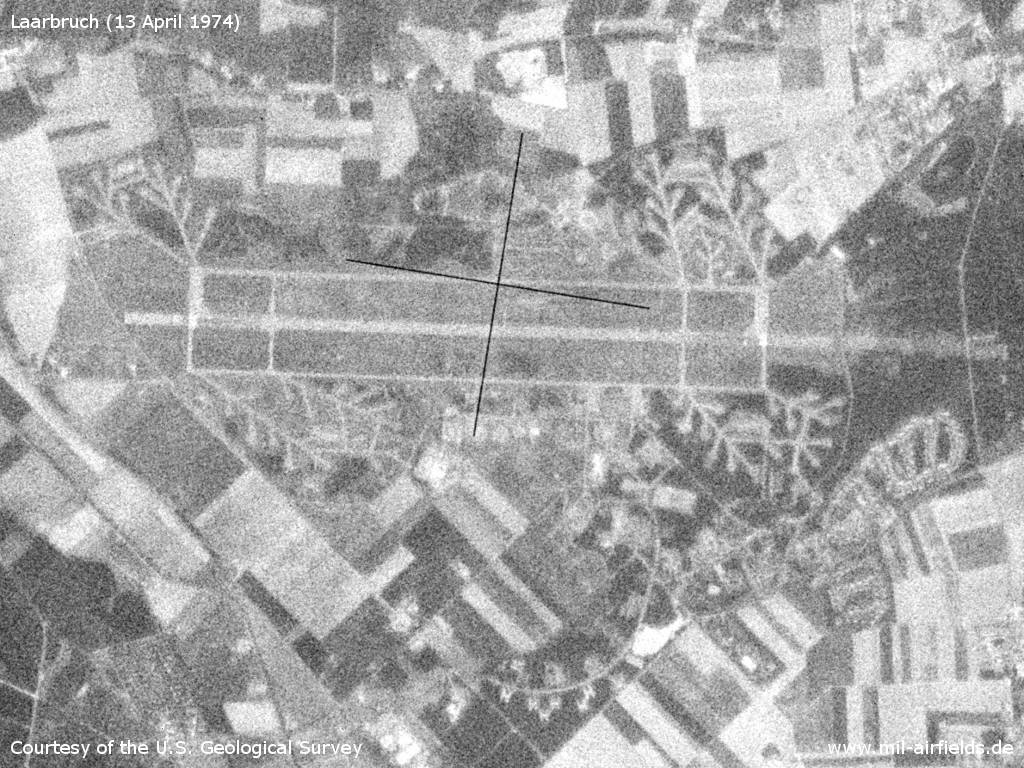 Laarbruch Air Base, Germany, on a US satellite image 1974