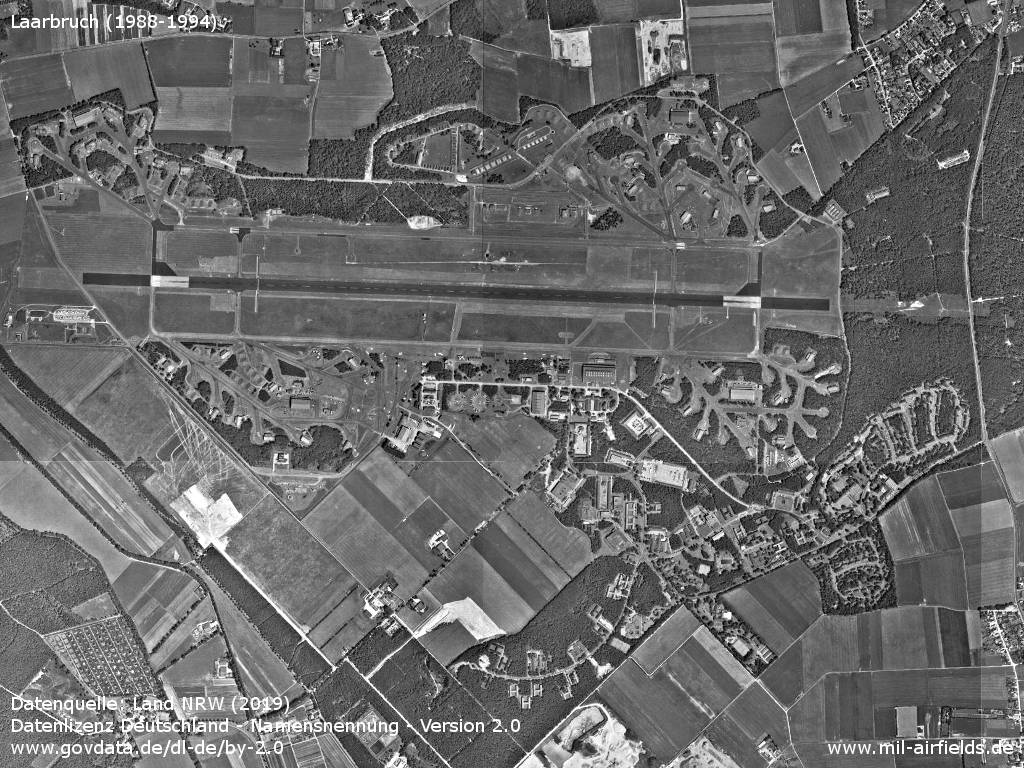 RAF Laarbruch: Aerial picture from the late 1980s or early 1990s