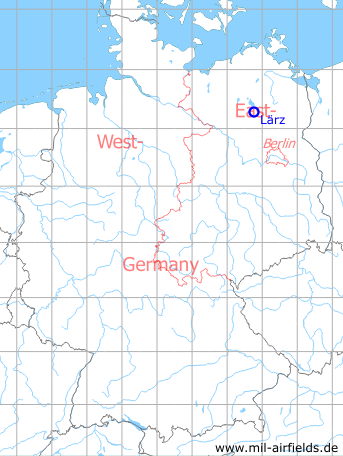 Map with location of Lärz Air Base
