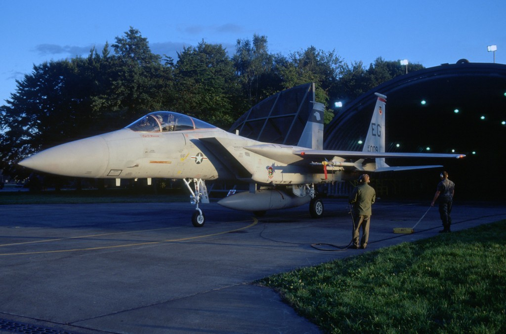 F-15 Eagle aircraft of the 60th Tactical Fighter Squadron at Lahr Air Base Germany
