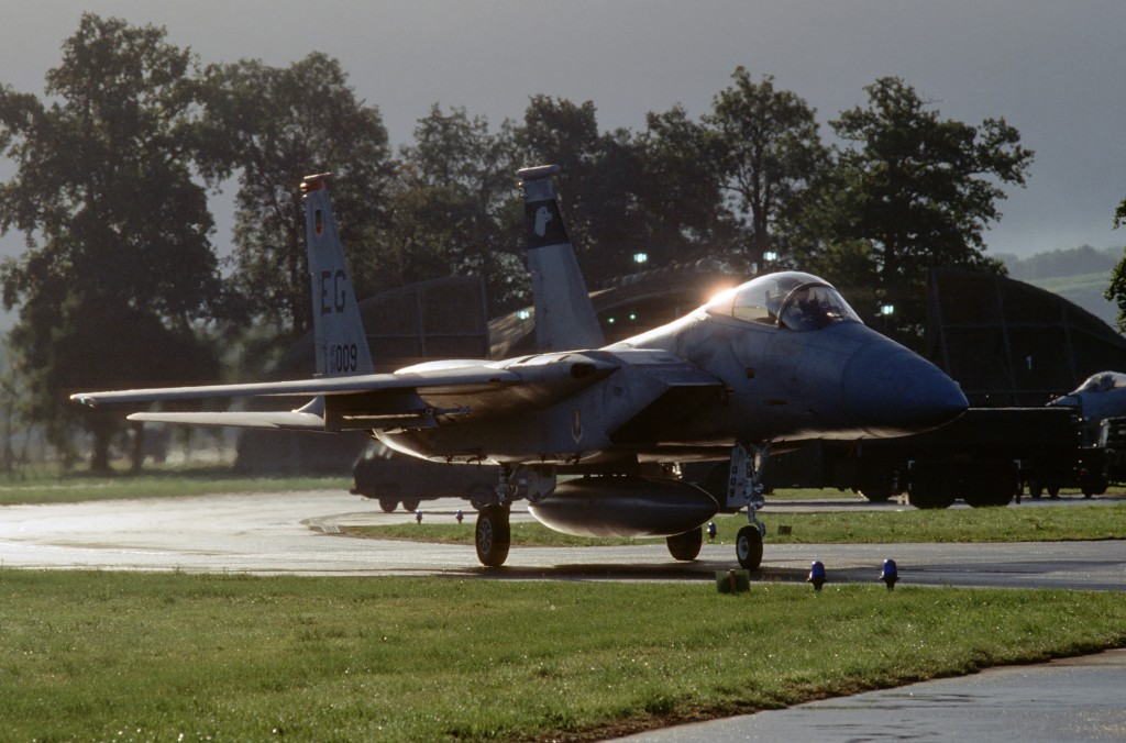 Lahr Airfield with F-15 of the 60 TFS USAF