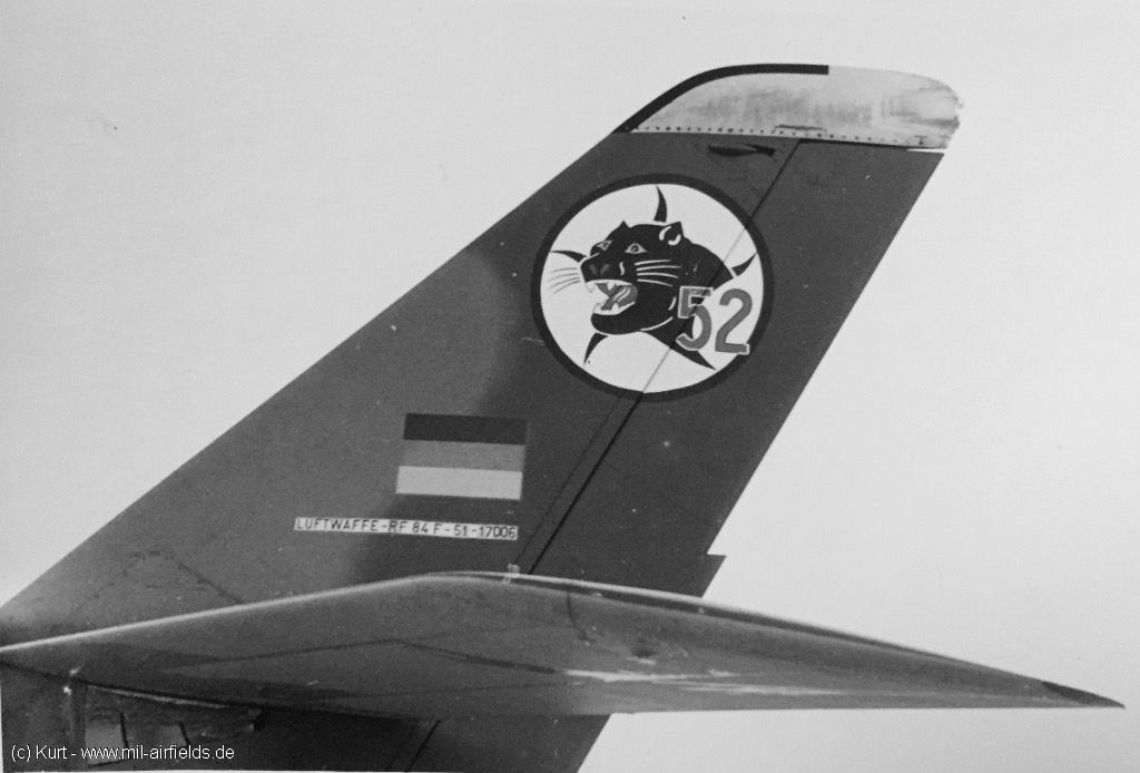Republic RF-84F Thunderflash 51-17006 of German Reconnaissance Wing 52, Leck Air Base