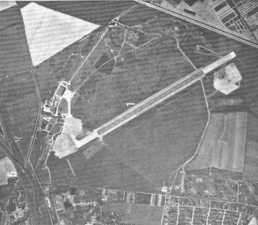 Aerial picture of Mockau airfield 1960s or 1970s