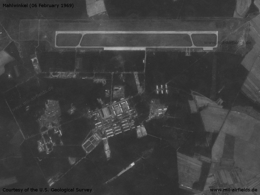 Mahlwinkel Air Base, Germany, on a US satellite image 1969